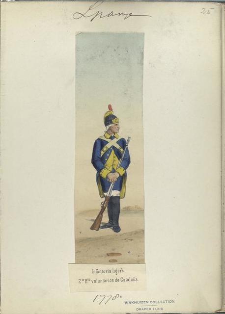Infanteria ligera. 2-o R-to [Segundo regimiento] voluntarios de Cataluña. 1778
