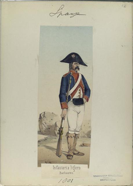 Infanteria ligera. Barbastro. (1801).