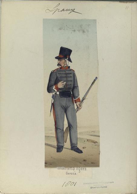Infanteria ligera. Gerona. (1801).