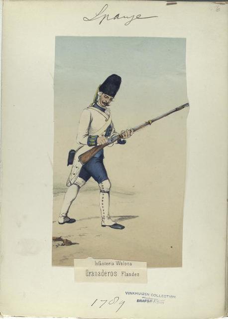 Infanteria Walona. Granaderos Flandes. (1789)