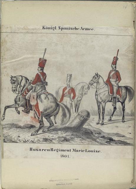 Königl[iche] Spanische Armee. Husaren Regiment Marie Louise. 1801.