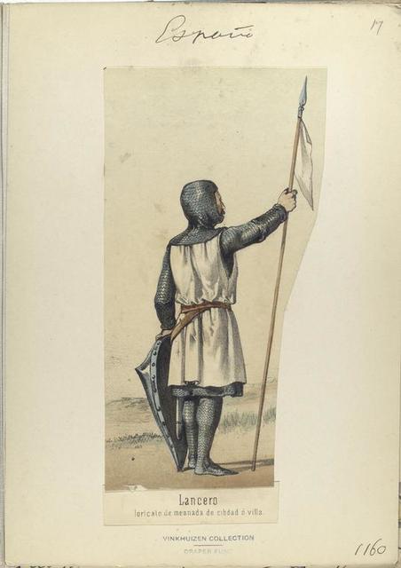 Lancero, loricato de mesnada de cibdad ó villa.  ([Año] 1160).