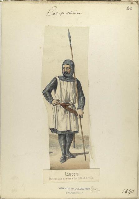 Lancero, loricato de mesnada de cibdad ó villa.  ([Año] 1190).