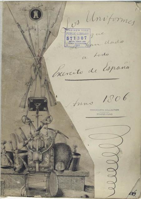 Los Uniformes que le han dado a todo Exercito de España. Anno 1806. (Title page) .