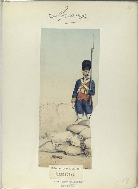 Milicias provinciales. Granadero. (1789)