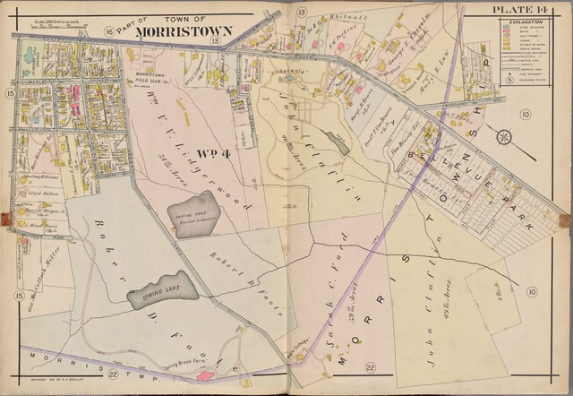 Morris County, Double Page Plate No. 14 [Map bounded by Madison Ave., Woodland Ave., Miller Rd., Boyken St., South St.]