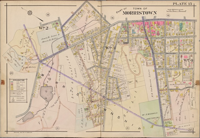 Morris County, Double Page Plate No. 15 [Map bounded by Atno Ave., Park Pl., South St., Boyken St., Miller Rd., Mendham Rd., Hazlet St., Early St.]