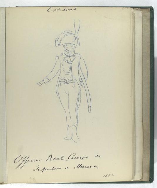 Officer. Real Cuerpo del Infanteria de Marina (1806)