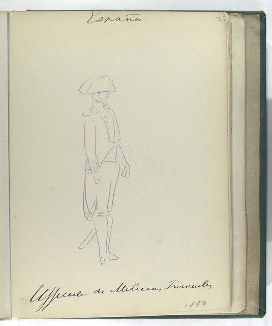 Officiale de Milicias Provinciales (1806).
