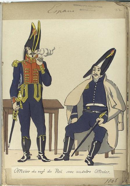 Officier du reg-t du Roi avec un autre Officier. (1806)