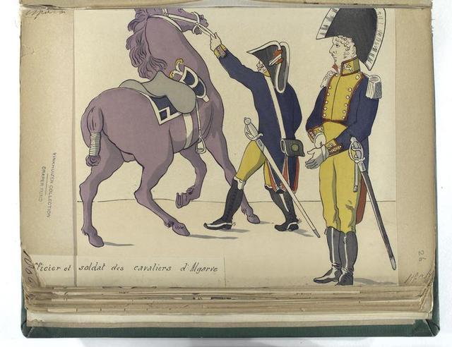 Officier et soldat des cavaliers d'Algarve (1806).