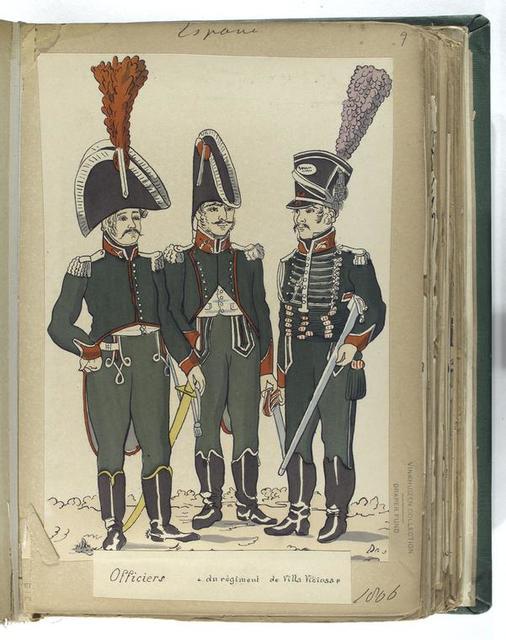 Officiers a du regiment de Villa Viciosa (1806).