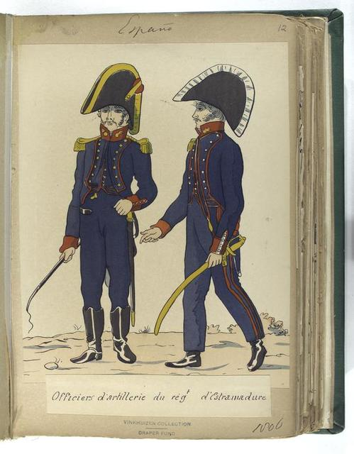 Officiers de l'artillerie a cheval du reg[imen]t d'Estramadure (1806).