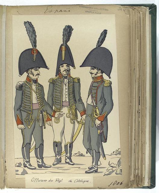 Officiers du Reg-t de Catalogne. (1806)