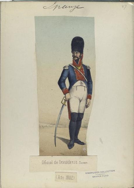 Oficial de Granaderos Suizos. (Año 1802).