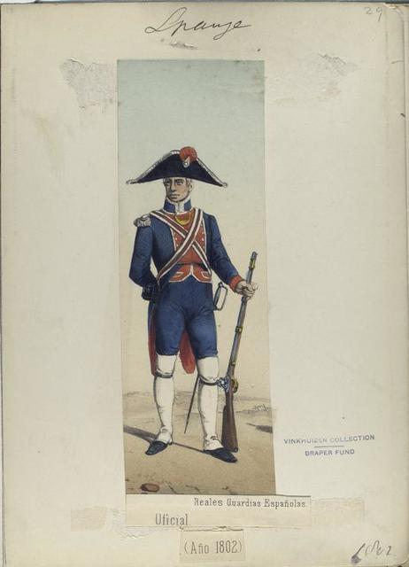 Oficial. Reales Guardias Españolas. (Año 1802)