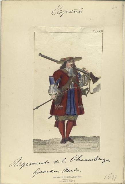 Pag. 132] Regimiento de la Chiamberga [?] Gvardia Reale (1677).