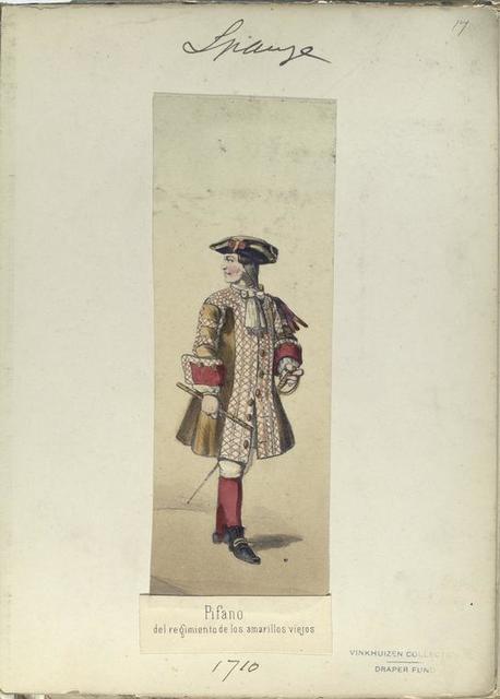 Pifano del regimiento los amarillos viejos. 1710