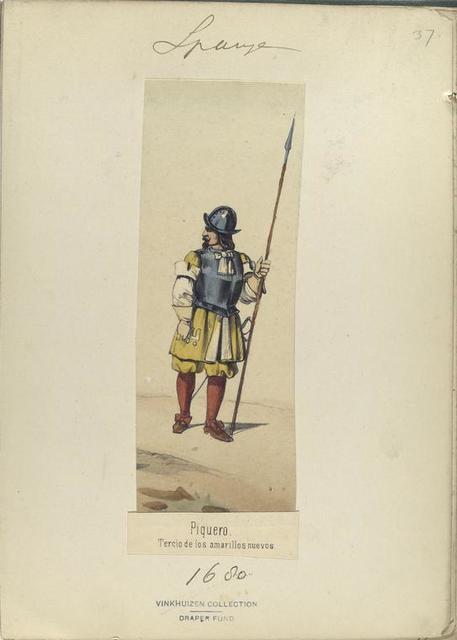 Piquero. Tercio de los amarillos nuevos. 1680