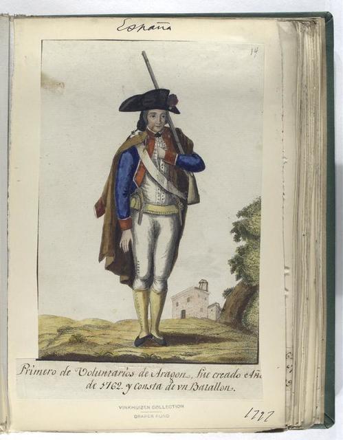 Primero de Voluntarios de Aragon, fue creado Año de 1762, y consta de vn Batallon. (1797)