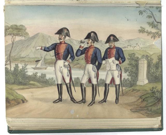 Regiment v. Rüttiman (de Reding jeune) Obert.  Oberst Lieut.  Major. 1804