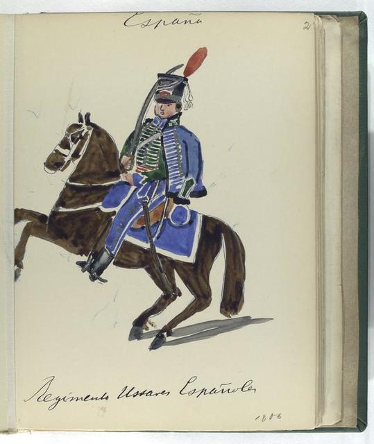 Regimento Ussares ESPAÑOLA (1806).