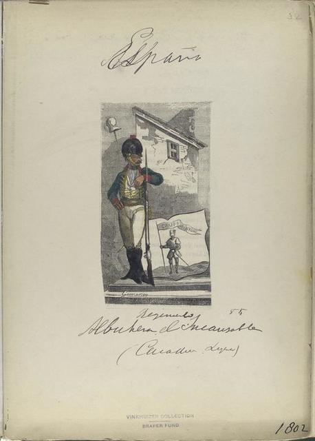 Regimiento Albuhera [?] el Incausoble [?] (Caballero? Ligera) (1802)