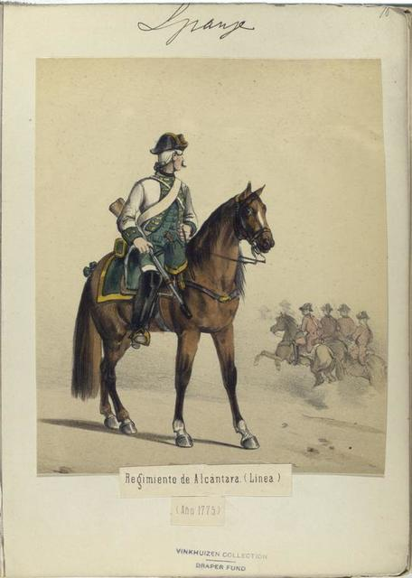 Regimiento de Alcántara (Linea). (Año 1775)