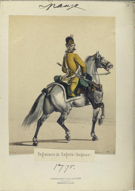 Regimiento de Sagunto (Dragones). 1775
