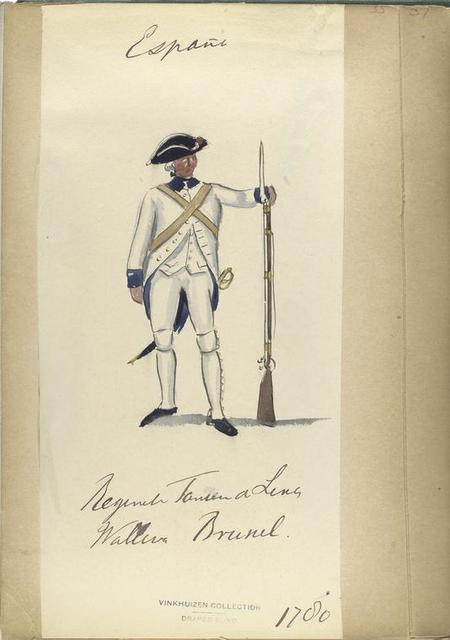 Regimiento Fanten [?] de linea. Wallona, Brussel. 1780