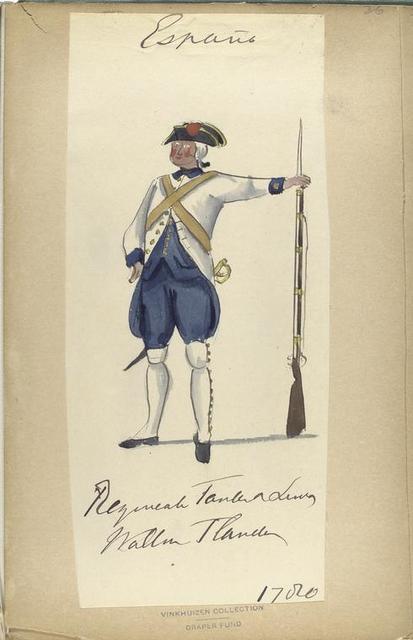 Regimiento Fanten [?] de linea. Wallona, Flandes [?]. 1780