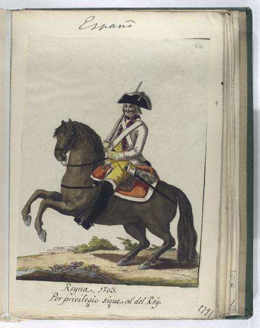 Reyna, 1703. Por privilegio sigue al del Rey.