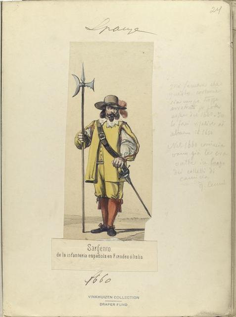 Sargento de la infanteria española en Flandes ó Italia. 1660
