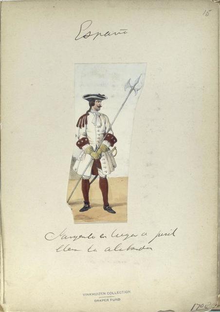 Sargento . la alabardero. 1708