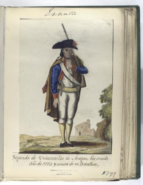 Segundo de Voluntarios de Aragon, fue creado Año de 1793 y consta de vn Batallon. (1797)