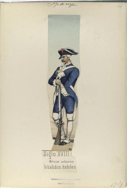 Siglo XVIII. Milicias urbanas. Inbalidos habiles. (1789)