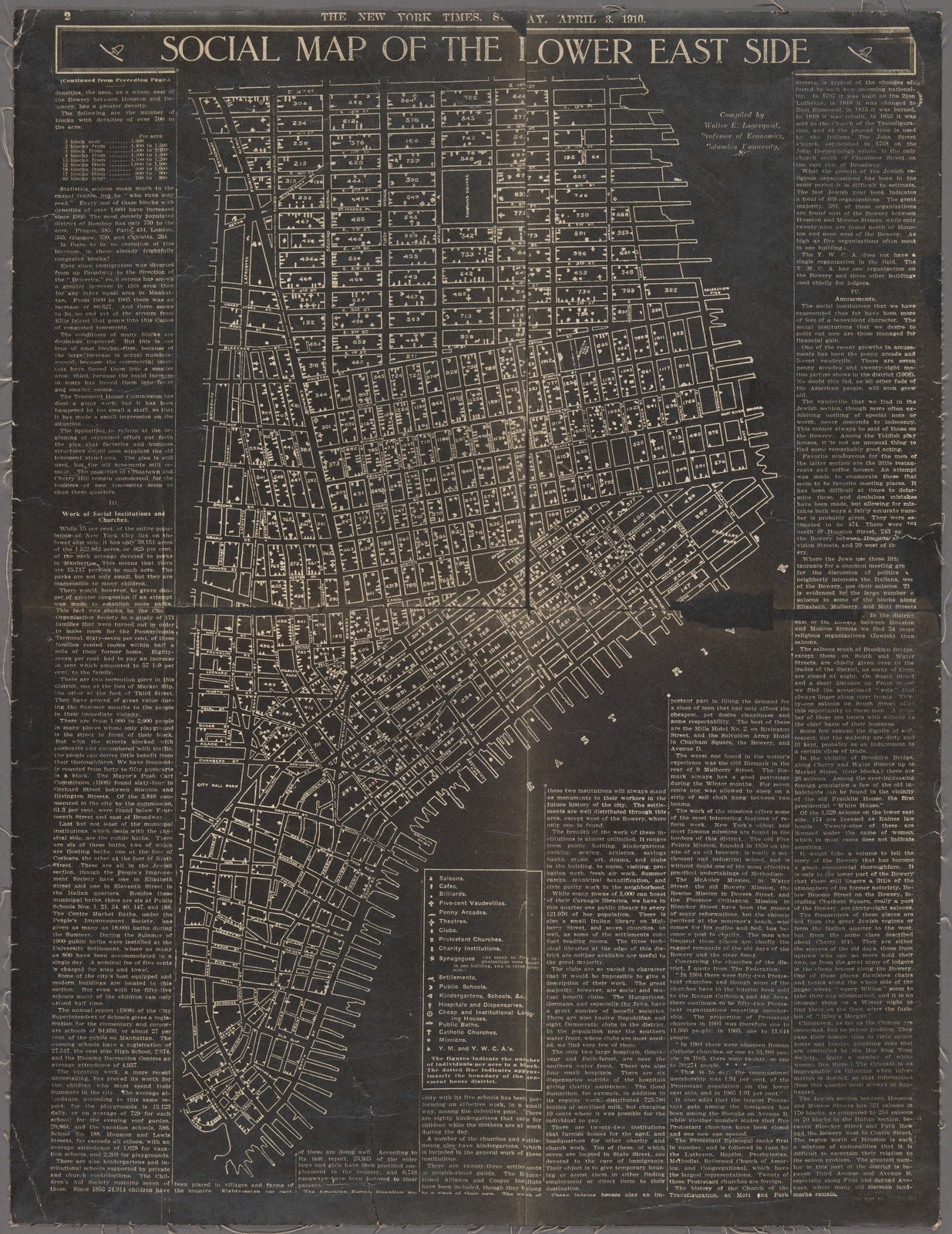 Social map of the Lower East Side. - New York Public Library ...