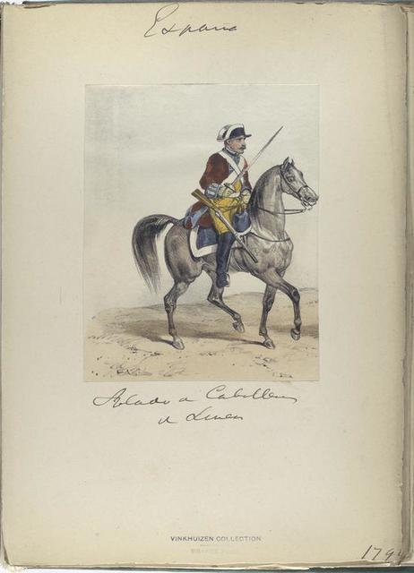 Soldado [?] de Caballero de linea. (1792?)