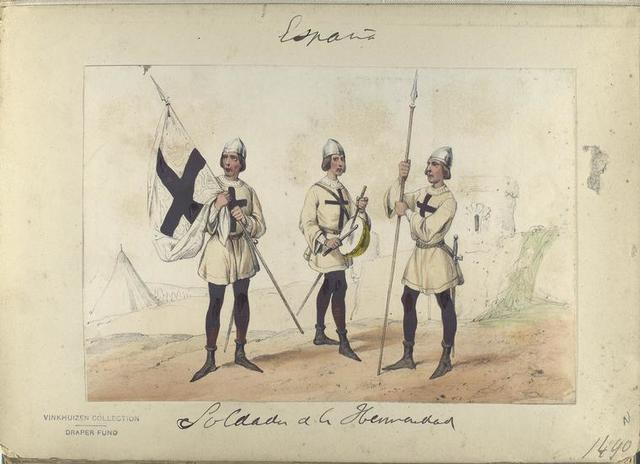 Soldados de la Hermandad. 1490