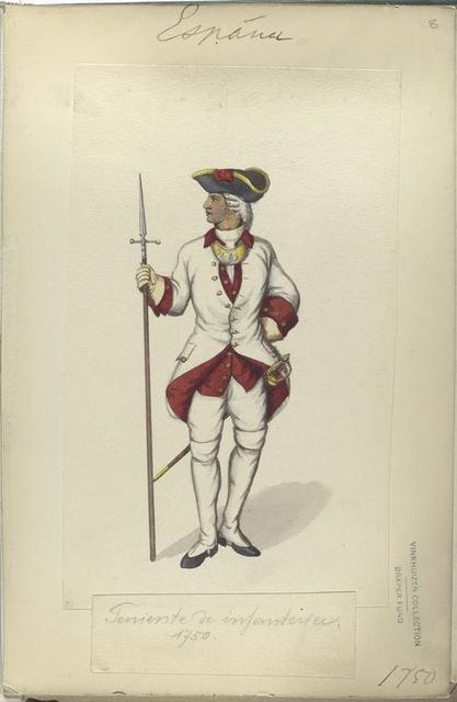 Teniente de infanteria. 1750