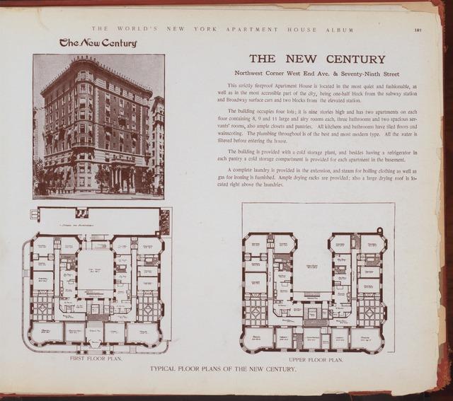 The New Century. Northwest corner West End Avenue & Seventy-Ninth Street.
