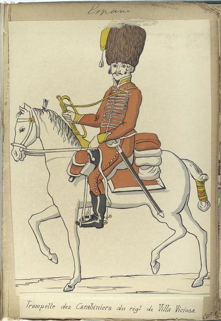 Trompette des Carabiniers du reg-t de Villa Viciosa (1806).