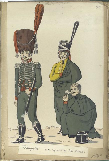 "Trompette ""du reg-t de Villa Viciosa"" (1806)."