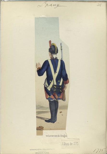 Voluntarios de Aragon. 1775