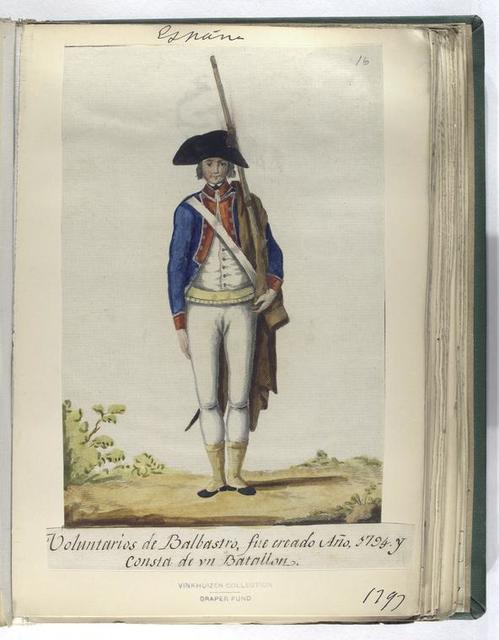 Voluntarios de Balbastro, fue creado Año, 1794, y consta de vn Batallon (1797).