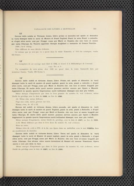 Le filet brodé: technique, modèles divers, procédés d'exécution, bibliographie des ouvrages dits à dentelles