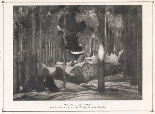 Maquette de Léon Bakst pour le décor du 3' acte Martyre de Saint Sebastien