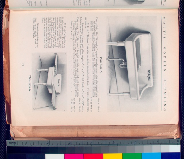 Plate 7068 - A. Brunswick imperial porcelain pantry sink ; Plate 7070 - A. Pierrepont porcelain pantry sink