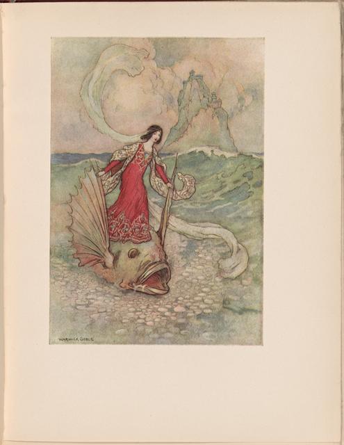 Rita riding on the Dolphin. Opp. p. 180