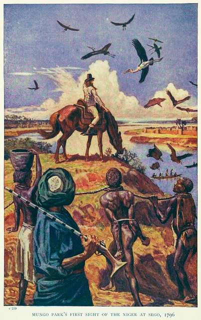 Mung Park's first sight of the Niger at Sego, 1796.